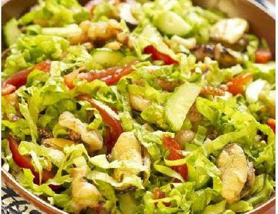 Салаты из морепродуктов и овощей рецепты