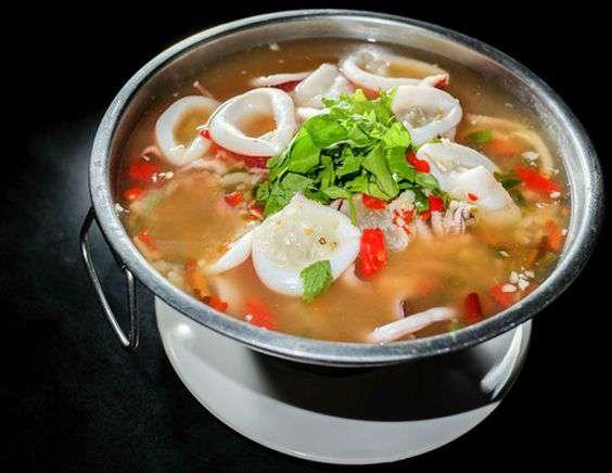 суп с кальмарами рецепт с фото