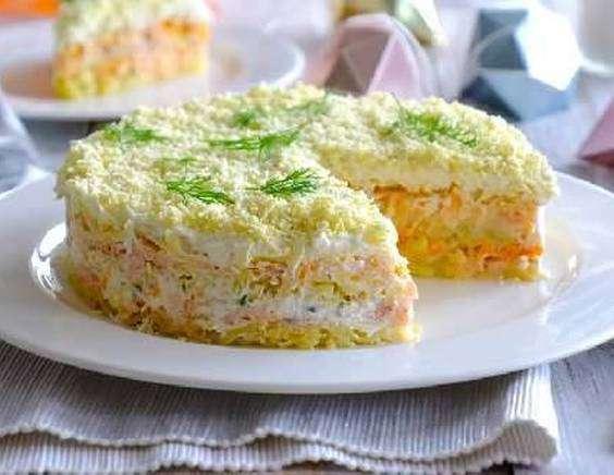 Салат мимоза с рисом классический
