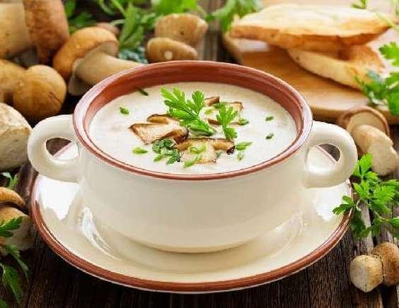 Картинки по запросу фото суп из шампиньонов