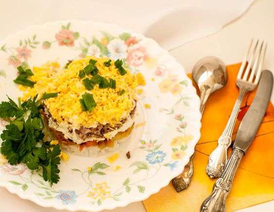 Рецепт традиционного салата мимоза