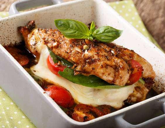 куриные грудки рецепты фаршированные моцареллой