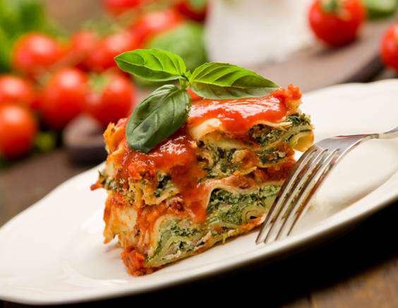 лазанья со шпинатом. и рикоттой рецепт
