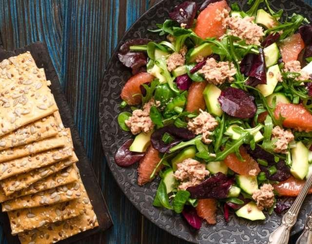 Диетический салат с тунцом🥗 - пошаговый рецепт с фото. Автор ... | 500x640