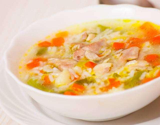 Рисовый суп с курицей рецепт