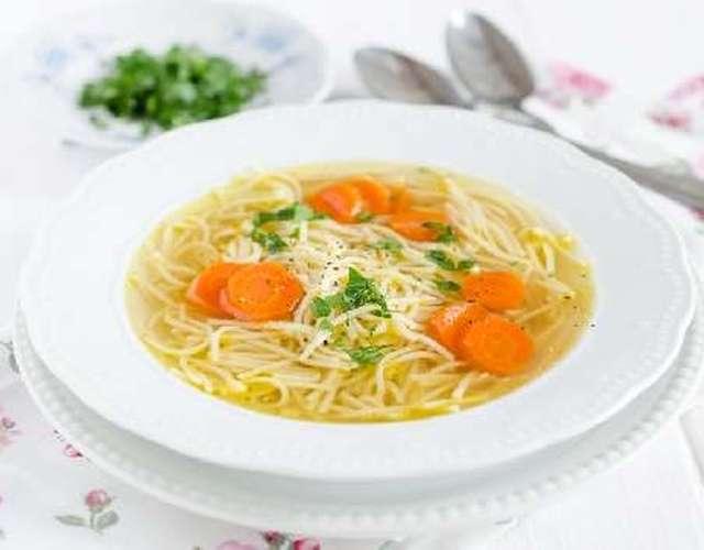 суп с мелкой вермишелью