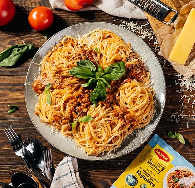 """Аппетитные макароны по-итальянски в соусе """"болонез"""""""
