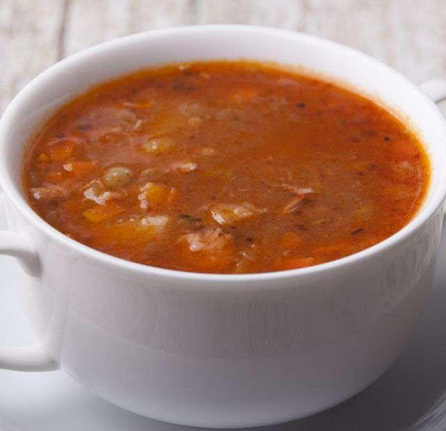Турецкий суп из чечевицы и фарша #3
