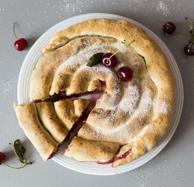 вишневый пирог легкий рецепт