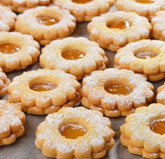 Детское печенье с вареньем
