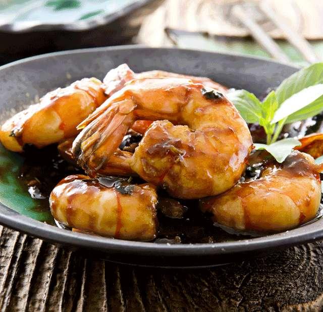 Креветки на гриле с соусом терияки