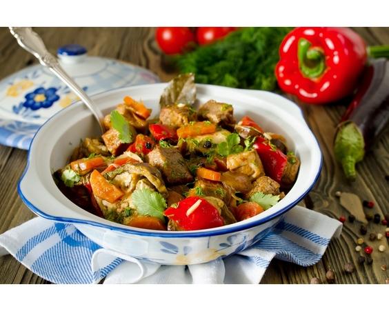Рецепт овощей с курицей