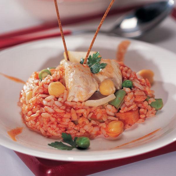 курица с рисом тушеная рецепт